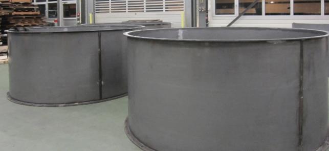Blechverarbeitung im Silobau / Behälterbau
